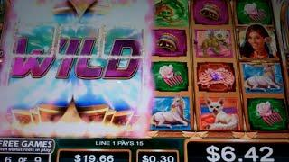 Sacred Guardians Spirit of the Fox Slot Machine Bonus - 9 Free Games Win with Stacked Wilds