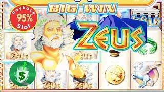 95% Zeus slot machine, 2 nice sessions