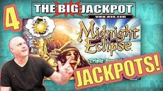 4 JACKPOT$ •HUGE HIT on $400 SPIN •Midnight Eclipse PAY$ OUT!