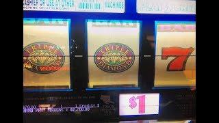 JACKPOT•Triple Diamond Dollar Slot Machine Max Bet $3 Hand Pay at San Manuel Casino CA, Akafuji slot