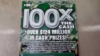 100X the Cash! - $20 Illinois Lottery Ticket Scratchcard Video