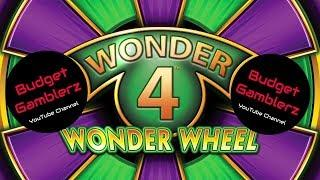 WONDER 4 WONDER WHEEL ~ TIMBER WOLF / BUFFALO GOLD ~ Live Slot Play @ San Manuel