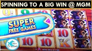 BUFFALO GOLD SPINNING FORTUNES SLOT MACHINE KEEPS ON DELIVERING @ MGM SPRINGFIELD!