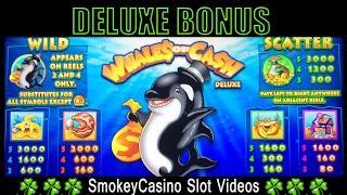 WHALES of CASH Deluxe Slot Machine Bonus Win - Aristocrat