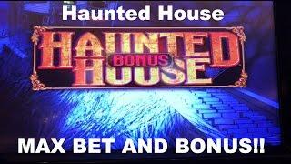 Haunted House Live Play at Max Bet with BONUS Multimedia Slot Machine The Venetian