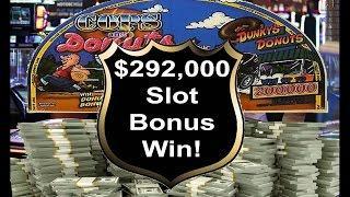 •$292,000 Slot Bonus Win!  IGT, Aristocrat Vegas Jackpot Handpay Cops & Donuts Machine | SiX Slot •
