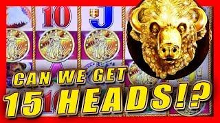 • CAN WE GET 15 HEADS!? • BUFFALO GOLD SLOT MACHINE • GAMBLING WITH FRIENDS • LIVE PLAY GROUP PULL