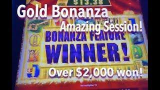 GOLD BONANZA - Great session!  Machine wouldn't stop bonusing!