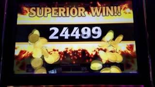 SUPER BIG WIN COMPILATION !!!! GOLD Dragon RED Dragon Slot Machine Bonus •LIVE PLAY•