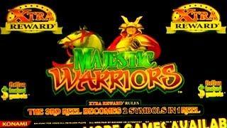 MAJESTIC WARRIORS Slot Machine ~ Xtra Rewards Bonus Win