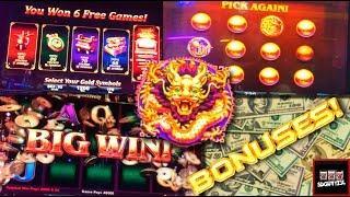 BIG WINS!!! LIVE PLAY on Fu Gui Ji Li Slot Machine with Bonuses