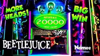 Beetlejuice and Jurassic Park Slot Machine - BIG WINS!!