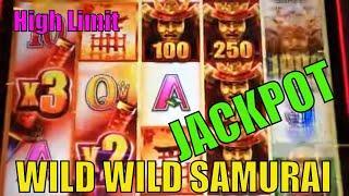 •OMG ! JACKPOT !! •WILD WILD SAMURAI Slot HIGH LIMIT / Finally showed me The Samurai Spirit•