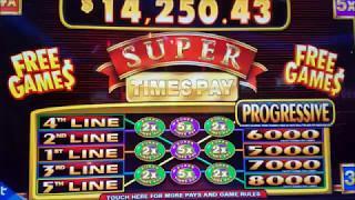 SUPER TIMES Slot Machine Bonus Win $5  Max Bet •Worst Bonus$  !!! 2X 3X 4X 5X Super Times Slot Mach