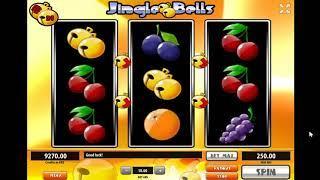 Jingle Bells slots - 370 win!