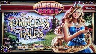 WMS: Awesome Reels - Princess Tales Slot Bonus HUGE WIN!