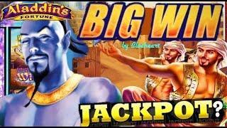 • BIGGEST ON YOUTUBE •  ALADDIN'S FORTUNES 3D slot machine LIVE PLAY MASSIVE BONUS WIN!