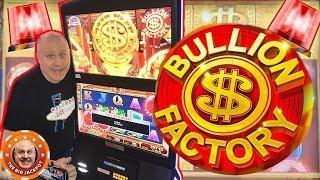 •WARNING • HUGE JACKPOT INCOMING on Konami's Bullion Factory! + MORE BONUS ROUNDS •