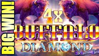 BUFFALO DIAMOND BIG WIN! ⋆ Slots ⋆ FINALLY GOT THE 4X SPINS! Slot Machine (Aristocrat)