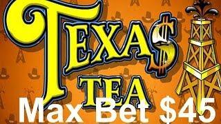 •Casino Video Slot MAX BET $45 BIG Win! Bonus Texas Tea Oil Machine | SiX Slot | SiX Slot • SiX Slot