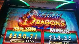 "*NEW GAME* (AINSWORTH) ""ACTION DRAGONS"" FREE SPINS!!!!!!"