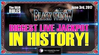 • Biggest Live Jackpot In History | $600 A Pull | Black Widow @ The Cosmopolitan •