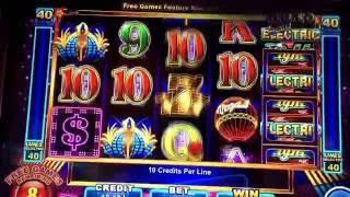 Electric Nights Slot MAX BET Bonus - BIG WIN!