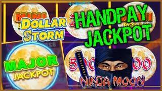 HIGH LIMIT Dollar Storm Ninja Moon HANDPAY MAJOR JACKPOT⋆ Slots ⋆️$25 Bonus Round Slot Machine Casin