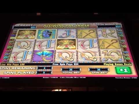 Cleopatra 1 HANDPAY jackpot high limit slots bonus