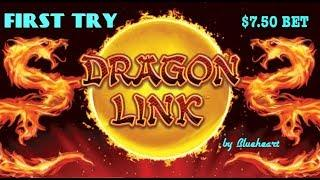 • FIRST TRY • DRAGON LINK slot machine LIVE PLAY and BONUS WINS! (10cents version)