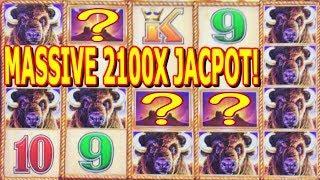 • JACKPOT HANDPAY • MASSIVE • BUFFALO GOLD JACKPOT • OVER 2100X WIN •