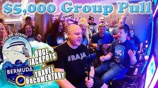 •$5,000 GROUP PULL at Sea! •3 HUGE BONU$ WIN$ • Bermuda Travel Documentary | The Big Jackpot