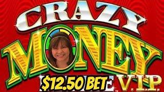 BACK TO BACK BONUSES-$12.50 BET-CRAZY MONEY DELUXE VIP
