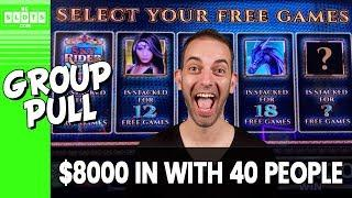 •‍•‍• 40 Person Group Pull! • $8000 @ Mohegan Sun CT • BCSlots