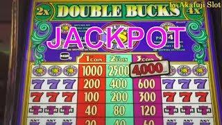 JACKPOT LIVE !!•Double Bucks $1 Slot Machine HAND PAY ! San Manuel Casino, Akafujislot