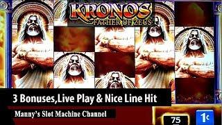 Kronons Father of Zeus by WMS 3 Bonuses at Viejas Casino