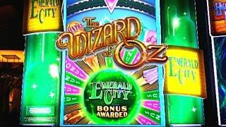 Wizard of Oz, Emerald City Slot Machine - Emerald City Bonus - Max Bet