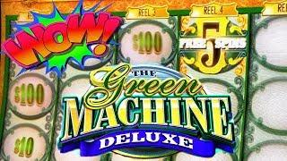 VLR HELPS THE GROUP PULL!! • 5 FREE SPINS & A RETRIGGER • GREEN MACHINE DELUXE