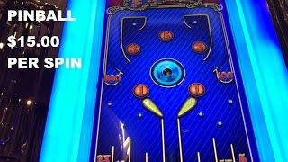 Pinball Live Play High Limit $15.00/SPIN Slot Machine by ITG The Cosmopolitan Las Vegas