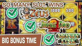 ⋆ Slots ⋆ SO. MANY. SLOT. WINS. ⋆ Slots ⋆ High-Limit Money Link, Zeus, Jinse Dao; The WINS DON'T STOP