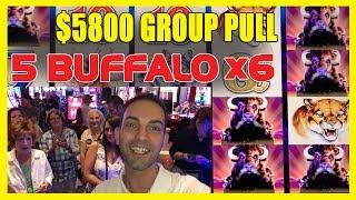 •WHOA! •5,800 29-Person Group Pull•5 Buffalo • 6•Lock It Link•Cosmo LAS VEGAS• BCSlots
