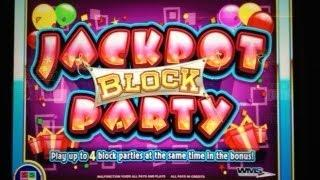 JACKPOT BLOCK PARTY #1 - WMS SLOT MACHINE BONUS