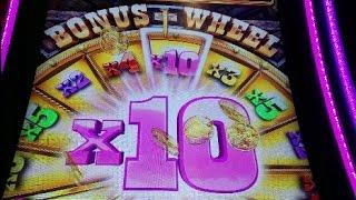 BUFFALO GRAND BIG WIN BONUS WHEEL!!! 4 COIN TRIGGER!!!