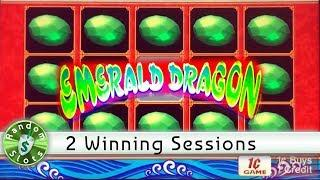 Emerald Dragon slot machine, 2 winning sessions