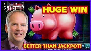 BETTER THAN JACKPOT! Lock It Link Piggy Bankin' Slot - HUGE WIN BONUS!