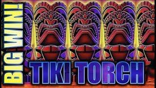 •BIG WIN!• 5 TIKI TORCHES! MY BIGGEST WIN TO DATE! • Slot Machine Bonus (ARISTOCRAT)