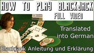 Blackjack Anleitung und Erklärung - German Translation of How To Play Blackjack