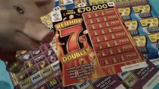 "Day -2....Scratchcard.Tuesday...Luxury Lines..Vs..Super 7""s..Guest Star RED HOT 7's Doubler"