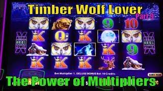 •$UPER BIG WIN•Timber Wolf Lover (9)•Timber Wolf Deluxe Slot machine•The Power of Multipliers  •彡栗