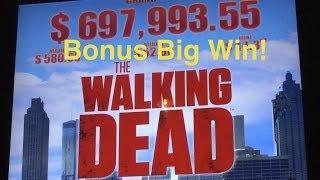 Walking Dead Slot Machine-Walker Bonus-Big Win!